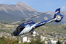 Sion/VS, September 2015 - The Eurocopter EC 130B4 HB-ZIN in service with Heli Alps (M. Ceresa)