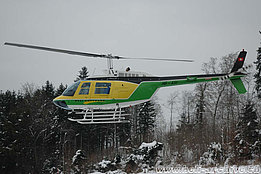Pfaffnau/LU, February 2005 - The Bell 206B Jet Ranger III HB-XSI in service with Heliswiss (K. Albisser)