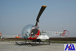 California, November 2007 - Bell 47G-2A with spray kit - Note the absence of the stabilyzer bar (M. Bazzani)