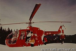 The MBB BO-105C HB-XEK in service with the Swiss Air Rescue Guard between 1974 and 1978 (HAB)