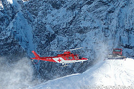 Bosco Gurin/TI, '90s - The Agusta A109K2 HB-XWO in service with Rega (HAB)