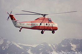 1970s - The Sikorsky S-58T HB-XDT in service with Heliswiss (HAB)
