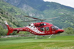 Raron/VS, May 2018 - The Bell 429 HB-ZOZ in service with Air Zermatt (M. Bazzani)