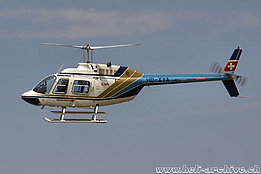August 2015 - The Bell 206B Jet Ranger III HB-XYA in service with Héli-Lausanne (T. Schmid)