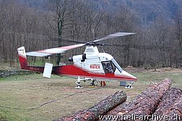 Ticino, November 2007 - The Kaman K-1200 K-Max HB-ZIH in service with Rotex (O. Colombi)