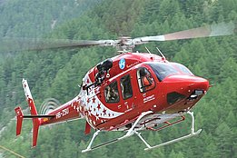 Zermatt/VS, August 2012 - The Bell 429 HB-ZSU with Air Zermatt's new colors (photo Hans Zurniwen)