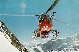 The SA 315B Lama HB-XDI in servive with Air Zermatt equipped with a winch for SAR operations (HAB)