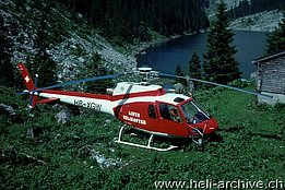 The AS 350B Squirrel HB-XGW in service with Linth Helikopter (archive A. Ackermann)