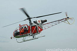 Gruyères/FR, August 2005 - The SA 315B Lama HB-XTD in service with Heliswiss (K. Albisser)