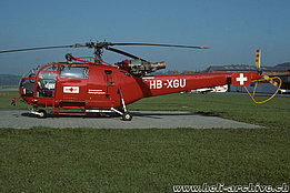 Belp/BE, October 1985 - The SA 319B Alouette 3 HB-XGU in service with Rega (HAB)