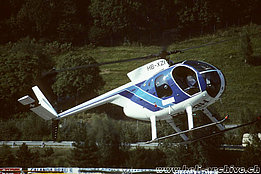 Ambrì/TI, August 1999 - The Hughes 500C HB-XZI in service with Lions-Air AG (A. Heumann)
