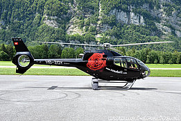 Mollis/GL, July 2012 - The EC 120B Colibri HB-ZGY in service with Rose Helicopter AG (K. Albisser)
