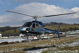 Belp/BE, February 2009 - The AS 350B3 Ecureuil HB-ZJV in service with Luciano Zogbi (B. Siegfried)
