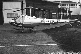 The Enstrom F-28A HB-XED in service with Fly Yourself during the 1970s (HAB)