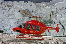 Swiss Alps, September 2003 - The Bell 407 HB-XQC in service with Bohag piloted by Günther Amann (G. Amann)