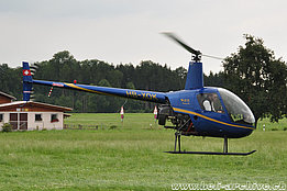 Sitterdorf/TG, July 2010 - The Robinson R-22 Beta II HB-XQK in service with Bonsai Helikopter AG (HAB)