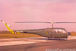 1960 - The Agusta-Bell 102 HB-XAY photographed in Cascina Costa (archive Agusta)