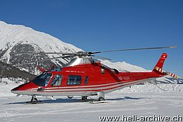 Samedan/GR, February 2009 - The Agusta 109E Power HB-XQE in service with the FOCA (N. Däpp)