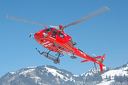 Zweisimmen/BE, January 2009 - The AS 350B3 Ecureuil HB-ZEL in service with Bohag (K. Albisser)