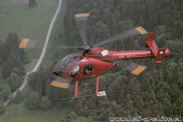 June 1992 - The MDD 520N HB-XUJ was one of the first Notar to be imported in Europe (archive Fuchs Helikopter)