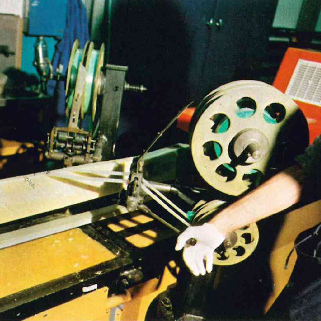 A machine winding was used to manufacture the main rotor blades (HAB)