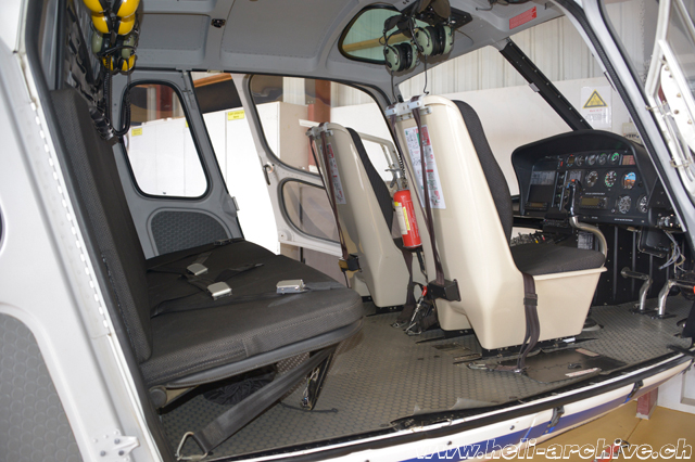 The wide cabin of the AS 350B Ecureuil (N. Däpp)