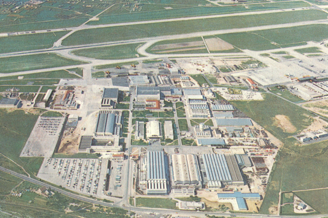 Aérospatiale's manufacturing plant in Marignane/F photographed in the late 1970s (HAB)