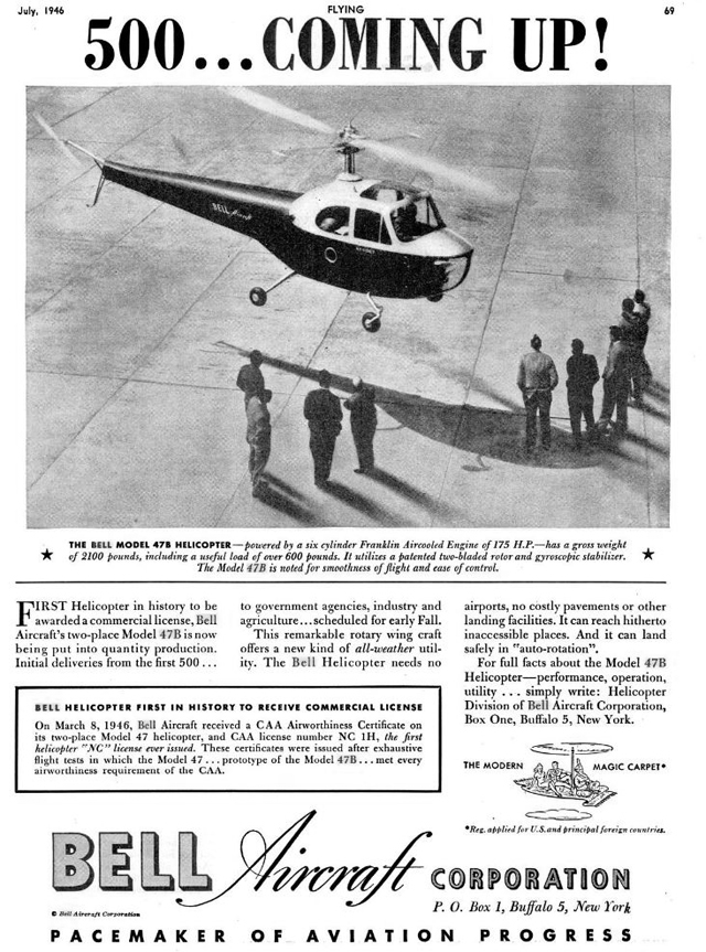 Bell Aircraft was undoubtedly too optimistic at the beginning...
