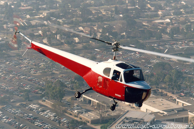 Air to air picture of the Bell 47B N116B photographed in the skies of Southern California in the early 1990s (J. Evans)