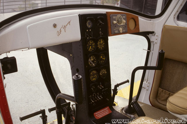 The cabin of the Bell 47B N116B (M. Bazzani)