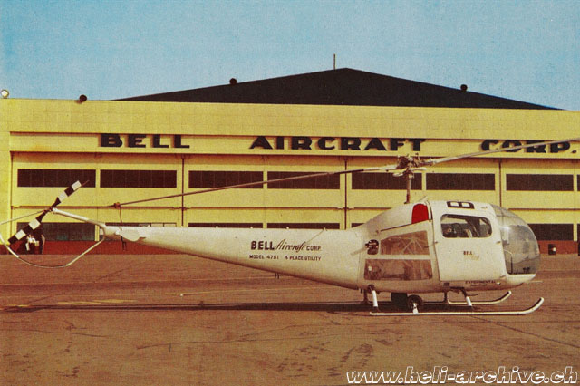 Semi-monocoque tail boom, streamlined fuel tanks and arched skid gear considerably increased both the look and the performance (Bell Helicopter - Paul D. Faltyn)