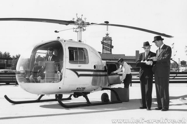 "The Bell 47J Ranger N2479B (here still with the writing ""experimental"" under the registration) was extensively used by Bell as demonstrator (Bell Helicopter - Paul D. Faltyn)"