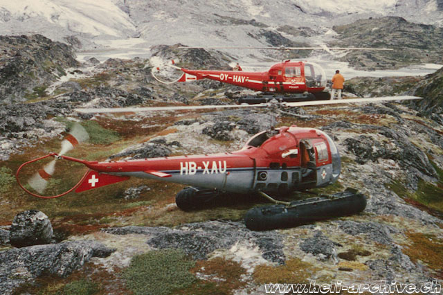 "Greenland, summer 1967 - The two ""Ranger"" employed by GGU photographed together (M. Burkhard - HAB)"