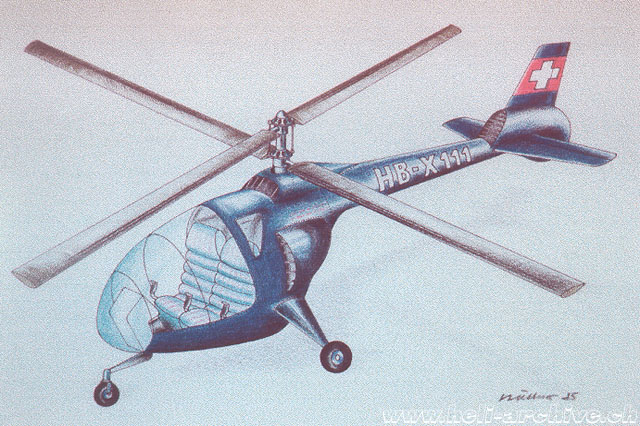 Picture 3 - The Berger BX-111 like others projects of Berger remained only on paper (HAB)