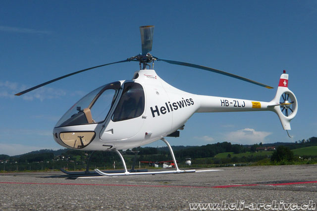 Belp/BE, August 2011 - The Guimbal Cabri G2 HB-ZLJ in service with Heliswiss AG (M. Bazzani)