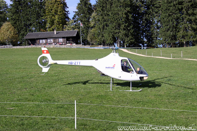 The Guimbal Cabri G2 HB-ZTT in service with Helitrans AG photographed in the countryside of Basel (AVIJOY)