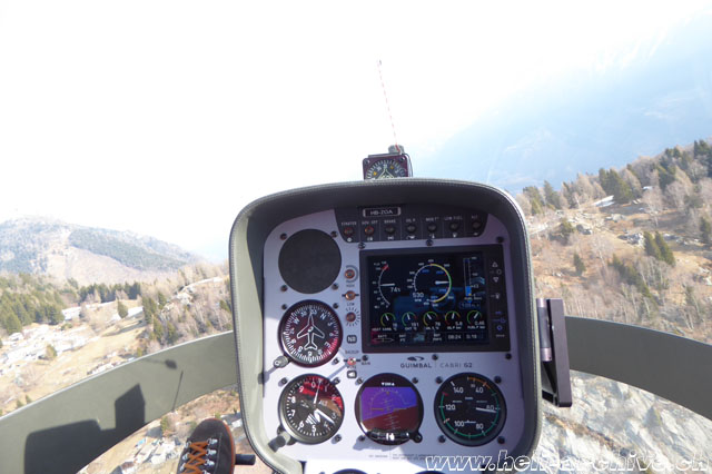 In flight with the Guimbal Cabri G2 (M. Bazzani)