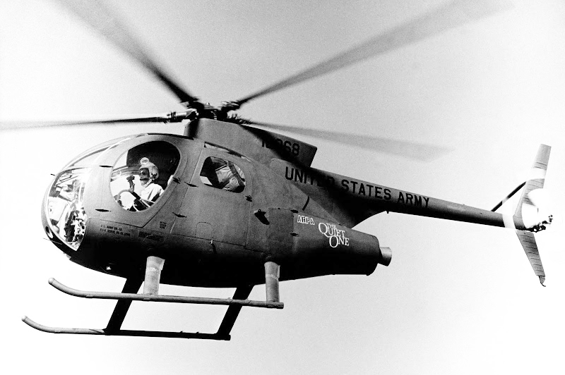 "Lo Hughes OH-6P Penetrator soprannominato ""The Quiet One"""