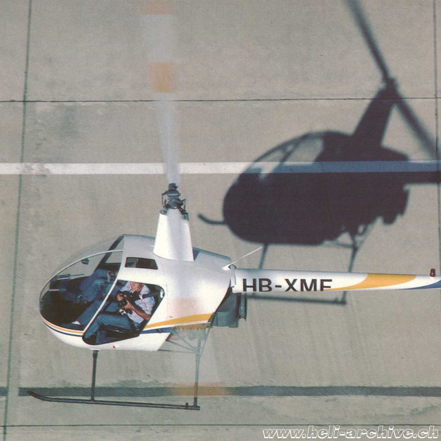The Robinson 22 HB-XMF (s/n 159) operated by Transair between 1981 and 1983 (HAB)