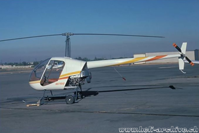 The first prototype of the Robinson 22 with call-sign N67010 was completed during the summer of 1975 (RHC)
