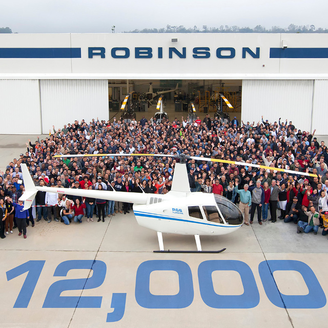 On December 23, 2016 RHC celebrated the delivery of its 12,000th helicopter (RHC)
