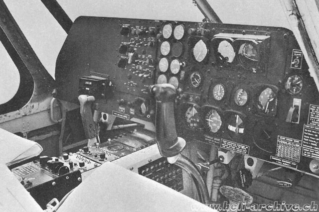 The instument panel of a Sikorsky S-55T (HAB)