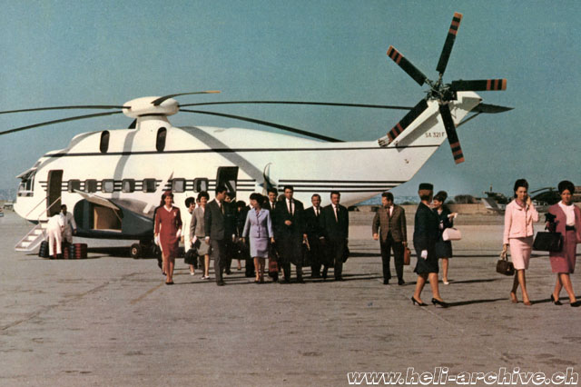 The mock-up of the SA 321F Super Frelon presented in 1965 at the Paris Air Show (HAB)
