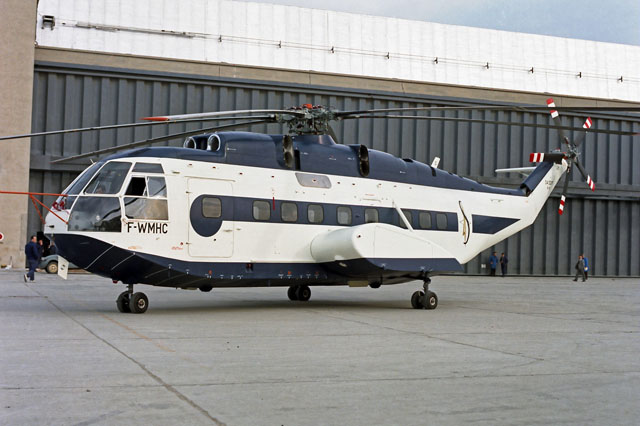 1967 - The SA 321F Super Frelon (here with its original original registration F-WMHC) is nowadays preserved at the International Helicopter Museum (© Airbus Helicopters)