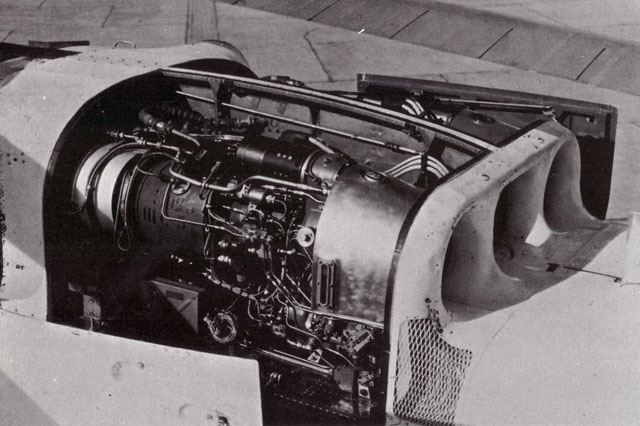 Close view of the two Turbomeca Turmo IIIC6 mounted in front side by side (HAB)