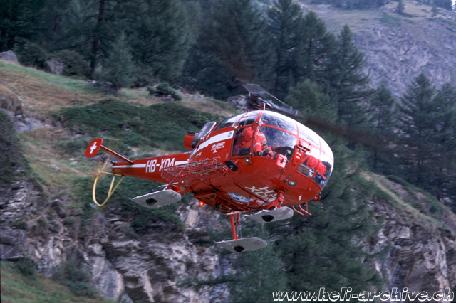 Zermatt/VS, 1980s - The SE 3160 Alouette 3 HB-XDA in service with Air Zermatt (HAB)