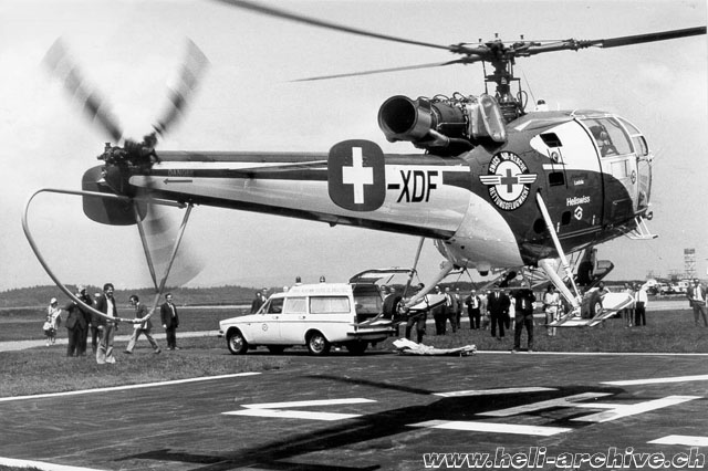 1970s - The SA 316B Alouette 3 HB-XDF in service with SARG (HAB)