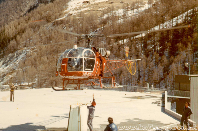 Zermatt/VS, Autumn 1972 - The SA 315B Lama HB-XDI in service with Air Zermatt (HAB)