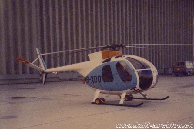 Hughes 369HE HB-XDO was purchased by Robert Fuchs in 1971 (SFA)