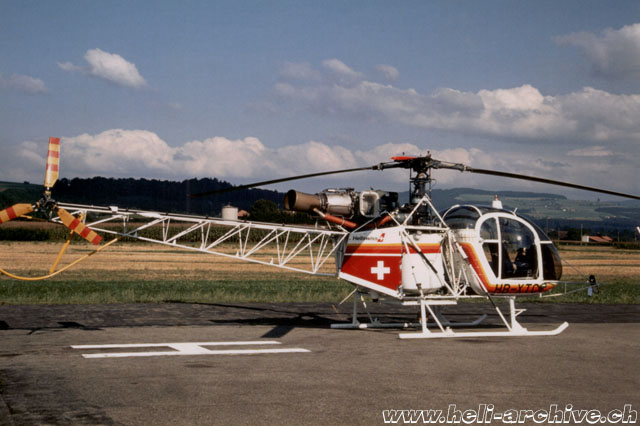 Belp/BE, September 1988 - The SA 315B Lama HB-XTC in service with Heliswiss (E. Krebs)